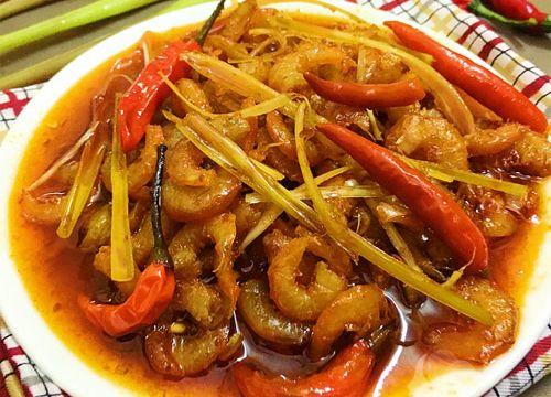 Đậm đà hương vị với món tôm khô rim chua cay mặn ngọt